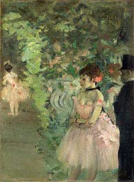 Ballerinas Backstage, c.1876/83 von Degas | Gemälde-Reproduktion