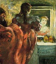 Schauspielerin in ihrer Garderobe, c.1879 von Degas | Gemälde-Reproduktion