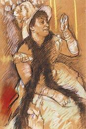Porträt von Madame Dietz-Monnin, 1879 von Degas | Gemälde-Reproduktion
