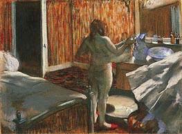 Nach dem Bad, c.1876/77 von Degas | Gemälde-Reproduktion