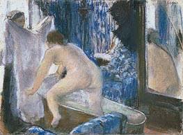 Frau steigt aus dem Bad, c.1877 von Degas | Gemälde-Reproduktion