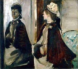 Frau Jeantaud vor einem Spiegel, 1875 von Degas | Gemälde-Reproduktion