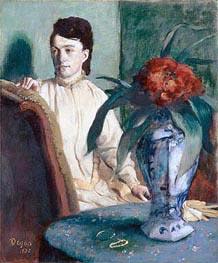 Frau mit Vase, 1872 von Degas | Gemälde-Reproduktion
