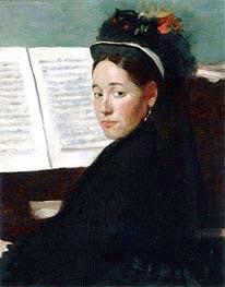 Mademoiselle Dihau au piano, 1869 von Degas | Gemälde-Reproduktion