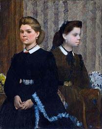 Die Bellelli Schwestern (Giovanna und Giuliana Bellelli), c.1865/66 von Degas | Gemälde-Reproduktion