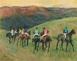 Landschaft mit Rennpferde, 1894 von Degas | Gemälde-Reproduktion