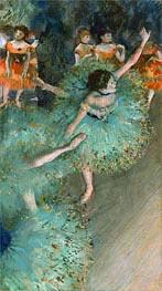 Ballerinen in Grün, c.1877/79 von Degas | Gemälde-Reproduktion