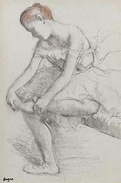 Sitzende Tänzerin, c.1896 von Degas | Gemälde-Reproduktion