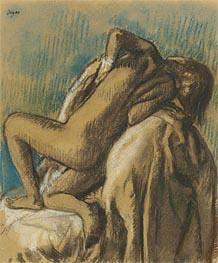 In der Ruhe nach dem Bad, c.1895 von Degas | Gemälde-Reproduktion