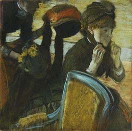 An der Putzmacherin, 1882 von Degas | Gemälde-Reproduktion