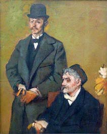 Henri Rouart mit seinem Sohn Alexis, 1895 von Degas | Gemälde-Reproduktion