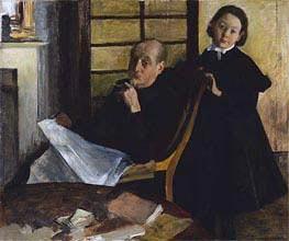 Henri Degas und seine Nichte Lucie Degas, c.1875/76 von Degas | Gemälde-Reproduktion