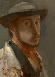Selbstporträt, c.1857/58 von Degas | Gemälde-Reproduktion