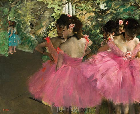 Degas | Dancers in Pink, c.1876