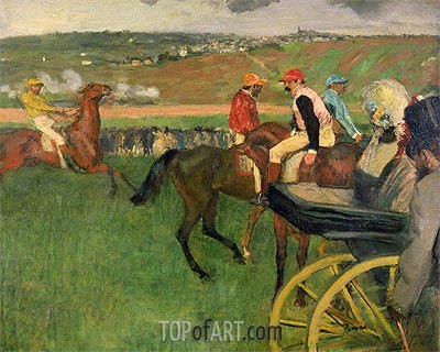 Amateur Jockeys on the Course, c.1876/87 | Degas | Gemälde Reproduktion