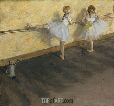 Dancers Practicing at the Barre, 1877 | Degas | Painting Reproduction