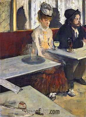 Degas | The Absinthe Drinker (In a Cafe), c.1875/76