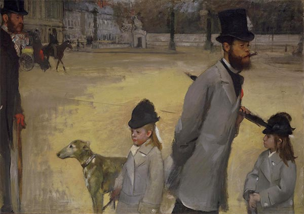 Place de la Concorde, 1875 | Degas| Painting Reproduction