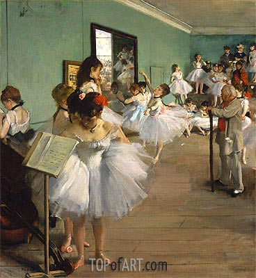 The Dance Class, 1874 | Degas | Gemälde Reproduktion