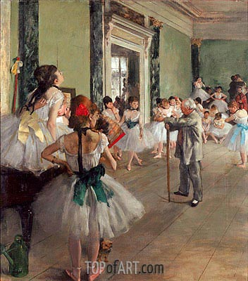 The Dance Class, c.1873/76 | Degas | Painting Reproduction