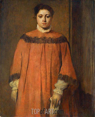 Girl in Red, c.1866 | Degas | Painting Reproduction