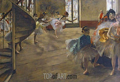 The Rehearsal, c.1877 | Degas | Gemälde Reproduktion