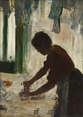 Degas | A Woman Ironing (Silhouette), 1873