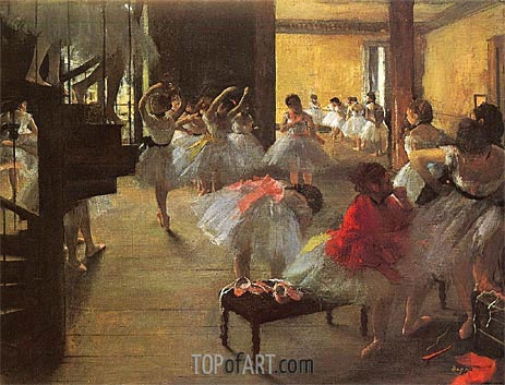 Degas | School of Ballet (Ecole de Danse), c.1873