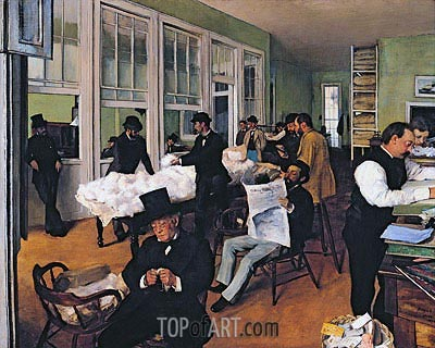 The Cotton Exchange in New Orleans, 1873 | Degas | Painting Reproduction