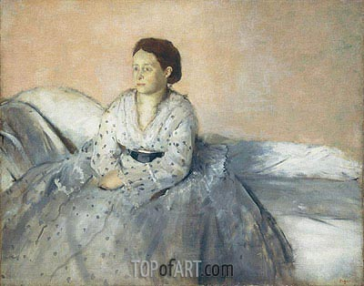 Madame Rene de Gas, c.1872/73 | Degas | Painting Reproduction