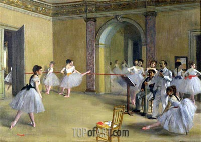 Dance Class at the Opera on Le Peletier Str., 1872 | Degas| Painting Reproduction