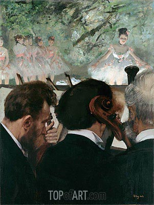 Musicians in the Orchestra, 1872 | Degas | Painting Reproduction
