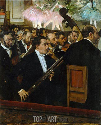 The Opera Orchestra, c.1870 | Degas| Painting Reproduction