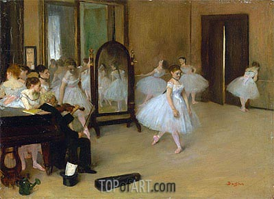 The Dancing Class, c.1870/71 | Degas| Painting Reproduction