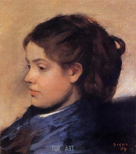 Portrait of Emma Dobigny, 1869 | Degas | Painting Reproduction