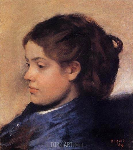 Portrait of Emma Dobigny, 1869 | Degas | Gemälde Reproduktion
