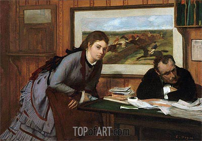 Sulking, c.1870 | Degas| Painting Reproduction