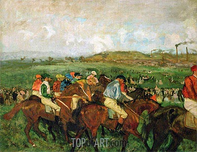 The Gentlemen's Race - Before the Start, 1862 | Degas | Painting Reproduction