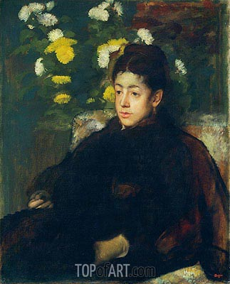 Mademoiselle Malo, c.1877 | Degas | Painting Reproduction