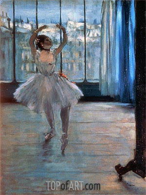 Dancer Posing at a Photographer's Studio, c.1874/77 | Degas| Painting Reproduction
