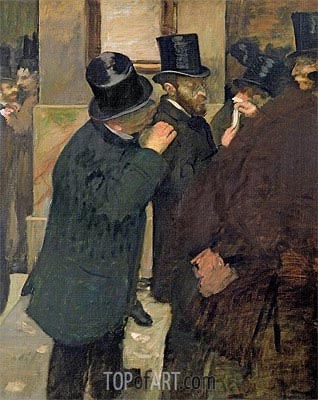 At the Stock Exchange, c.1878/79 | Degas| Painting Reproduction