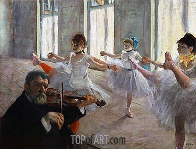 Degas | The Rehearsal, c.1878/79