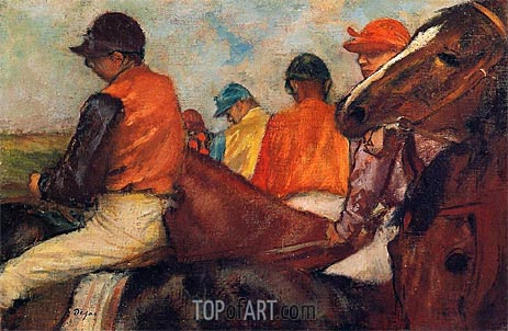 Jockeys, c.1881/85 | Degas | Painting Reproduction