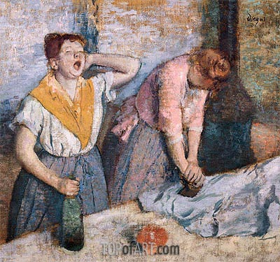 Laundry Girls Ironing, c.1884/86 | Degas| Painting Reproduction