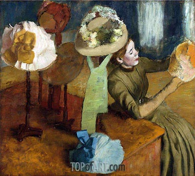 The Millinery Shop, c.1879/86 | Degas | Painting Reproduction