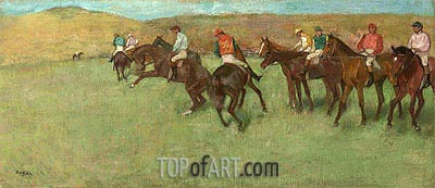 At the Races - Before the Start, c.1885/92 | Degas | Painting Reproduction