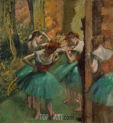 Dancers, Pink and Green, c.1890 | Degas | Painting Reproduction