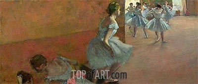 Dancers Ascending a Staircase, c.1886/90 | Degas| Painting Reproduction