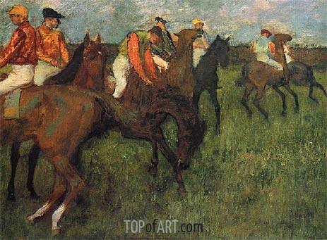Degas | Jockeys, c.1895
