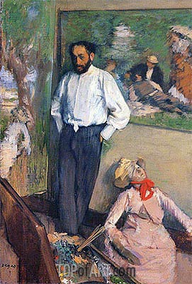 Portrait of the Painter Henri Michel-Levy, 1879 | Degas | Painting Reproduction